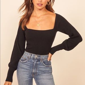 Reformation Isabel sweater Black Size XS